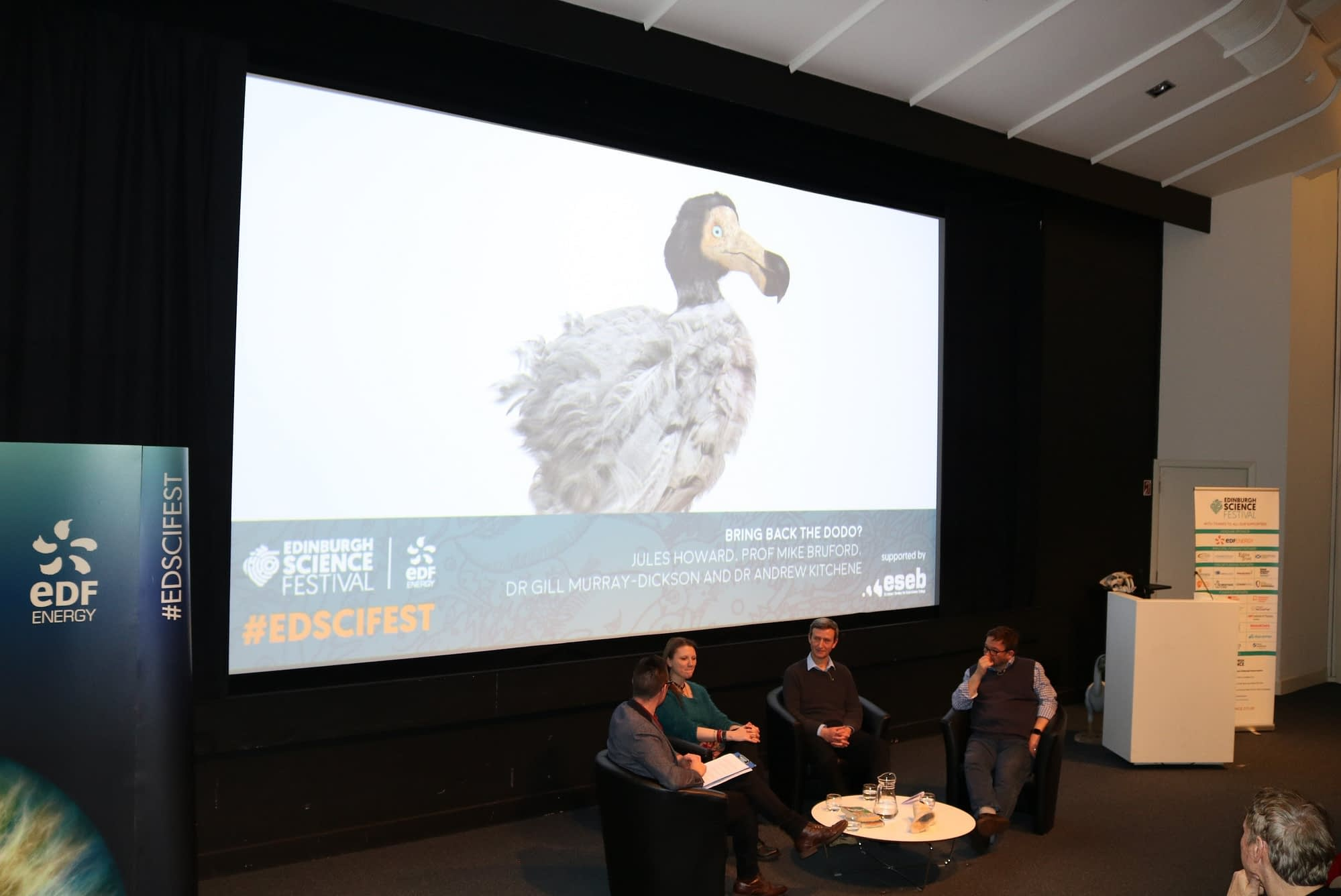 De-extinction, dinosaurs and dodos at the Edinburgh Science Festival